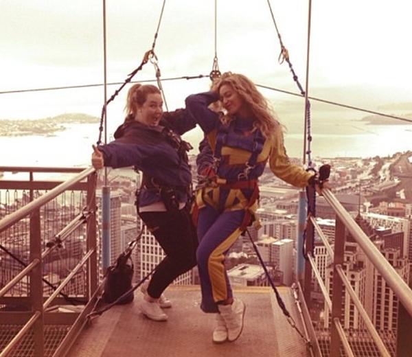 Beyoncé filmt eigen vrije val