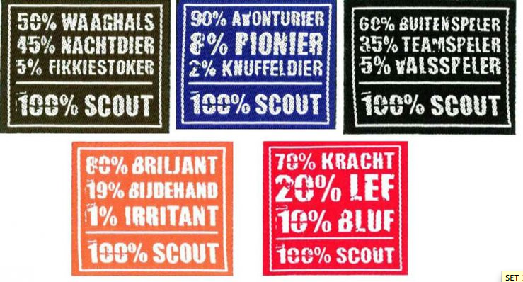 Scoutsbadge - 5 euro per set /hopper.be