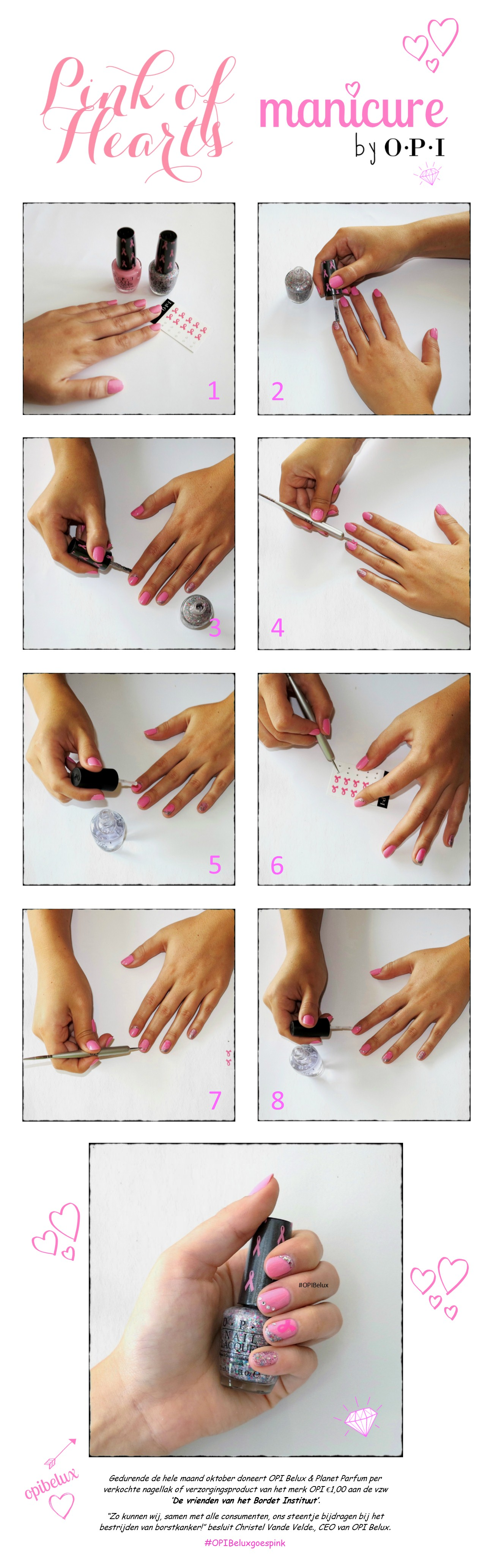 Pink Of Hearts Manicure NL