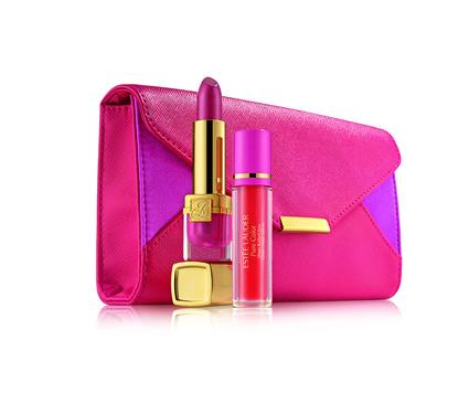 Estée Lauder Evelyn Lauder & Elizabeth Hurley Dream Lip-collectie, een lipstick en roller gloss verpakt in een leuk zakje - 30,00 €