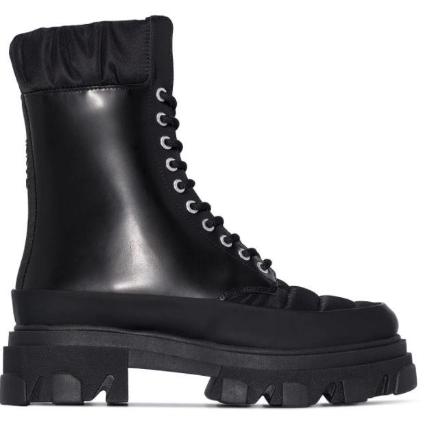 ganni schoenen veterlaarsjes
