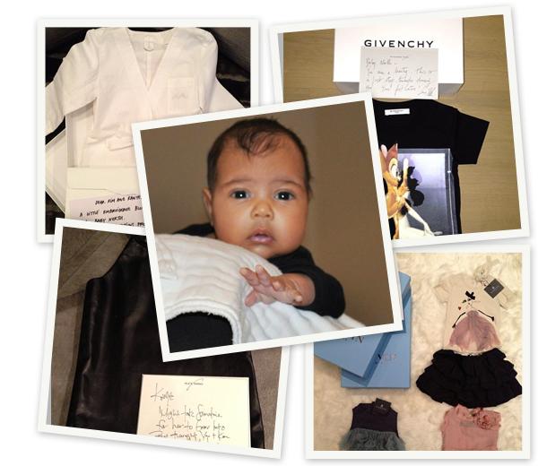 Dochter Kim Kardashian overladen met design geschenken