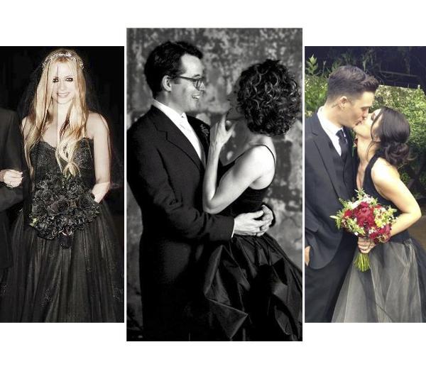 Sterrentrend: een zwarte bruidsjurk