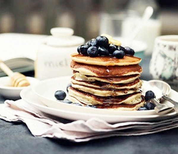 RECEPT. Blueberry pancakes