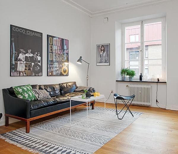 BINNENKIJKEN. 5 plaatsbesparende ideeën in 1 Zweeds appartement