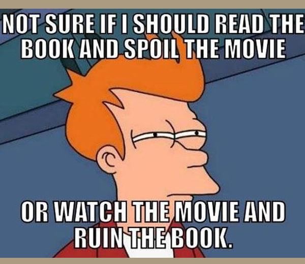 5 x boek versus film