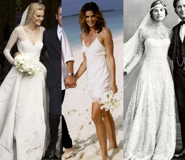 In beeld: wat dragen modellen op hun huwelijk?