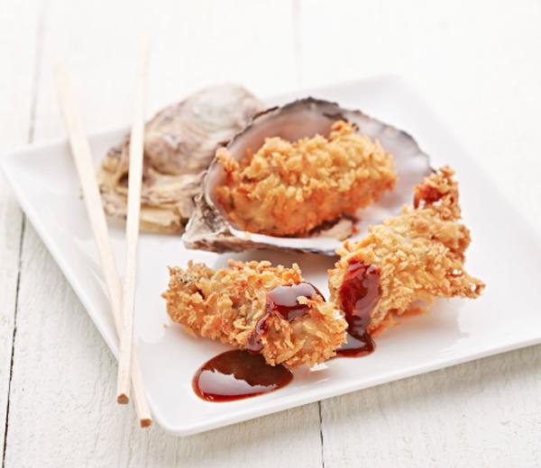 RECEPT: kaki fry, gefrituurde oesters als aperitief