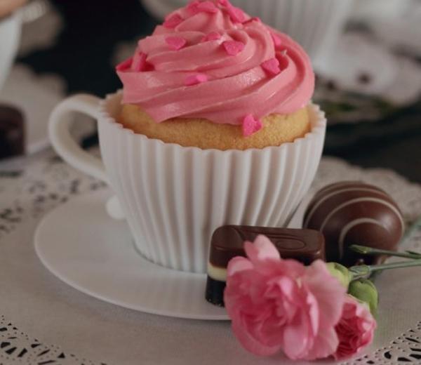 WEEKENDTIP. Cupcakes in theekopjes