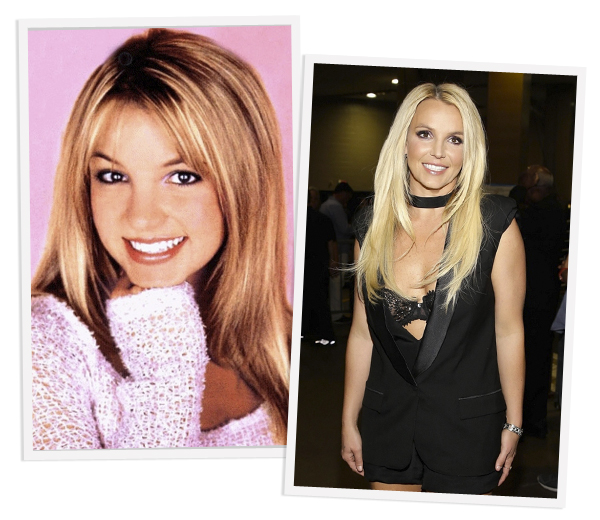 Britney Spears in 8 albumcovers