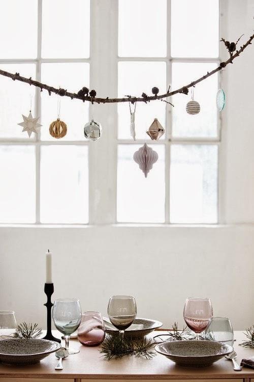 Interieur een kerst in wit pastel en goud - Minimalistisch dekorieren ...