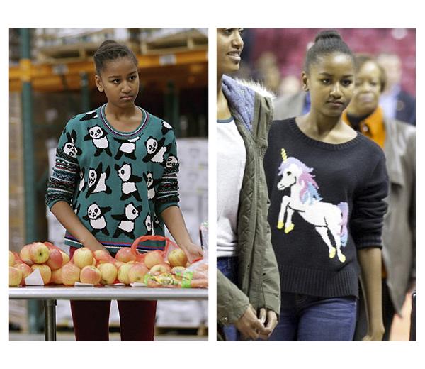 Sweater lady Sasha Obama zorgt voor uitverkochte webshops