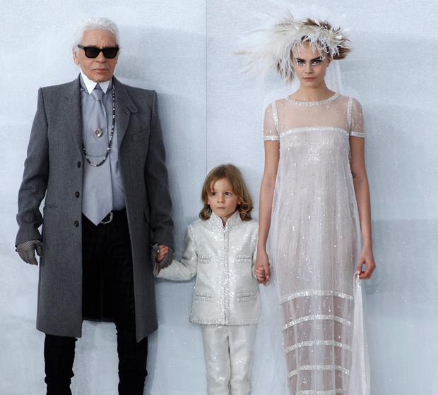 Hudson Kroenig steelt de show bij Chanel