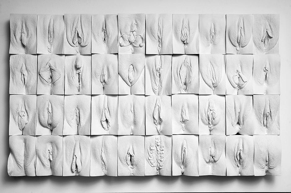 In beeld. Een muur van vagina's