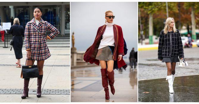 laarzen rok stijl winter trends