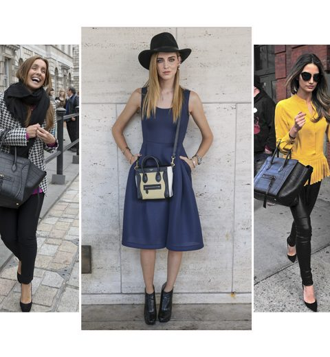 Foto's: celebs met de Céline Boston bag