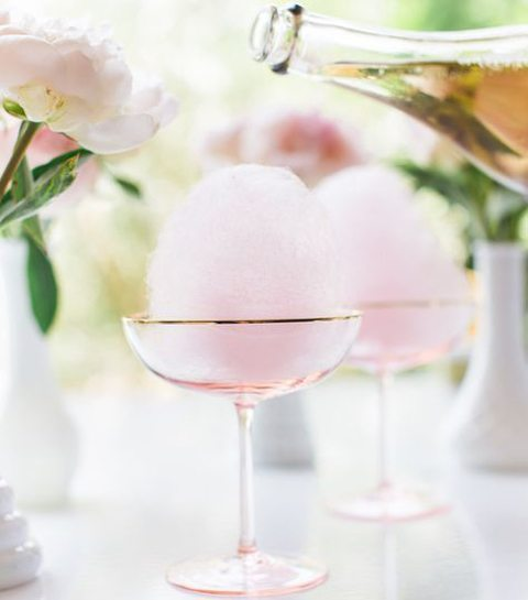 1/ Cotton candy champagne cocktail