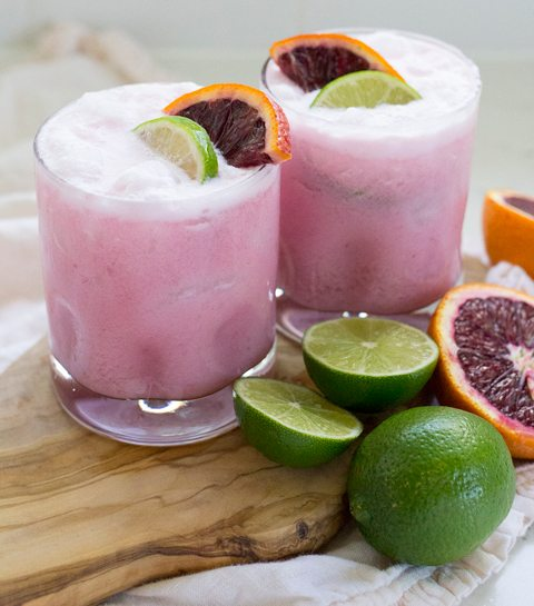 5/ Margarita met kokos en bloedsinaasappel