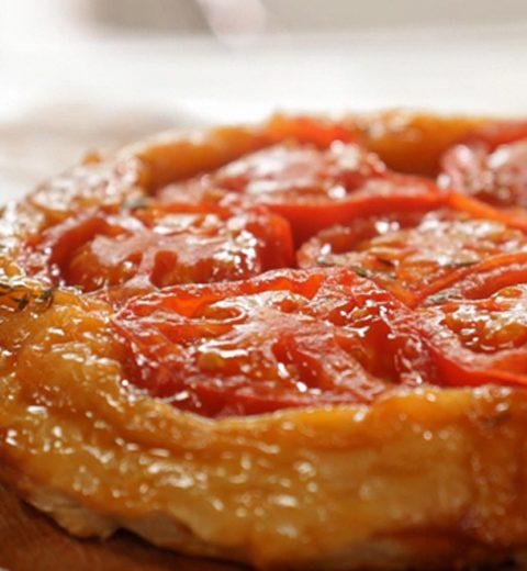 FOOD : tarte tatin van tomaten
