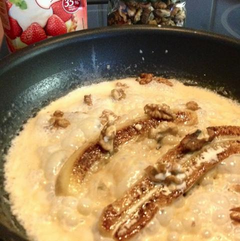 Ontbijt van gebakken banaan : recept