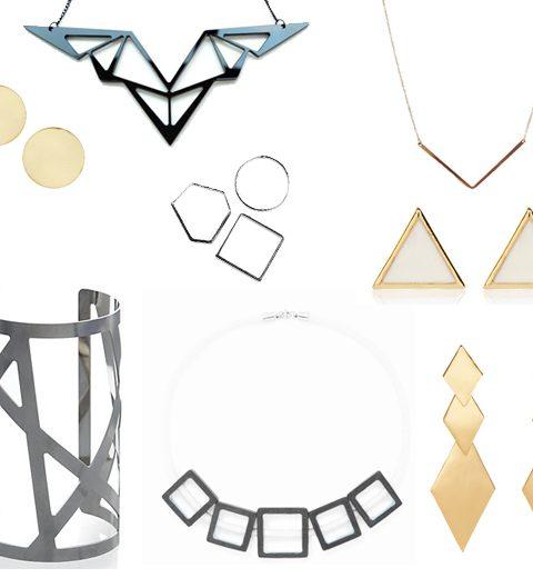 Shopping: geometrische juwelen