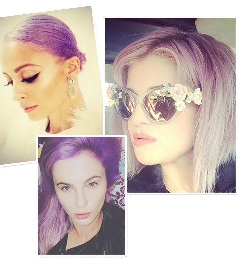 Wordt paars dé haarkleur van het seizoen?