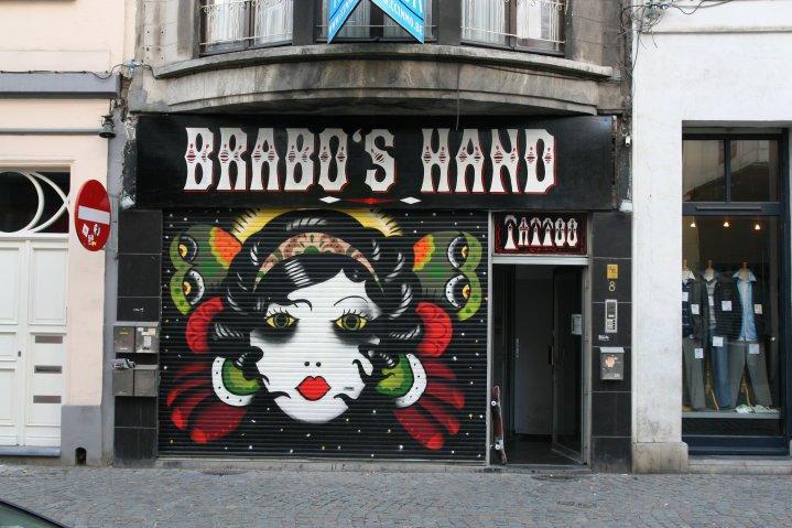 tattoo, tatoeage, antwerpen, shop, adres, brabo's hand