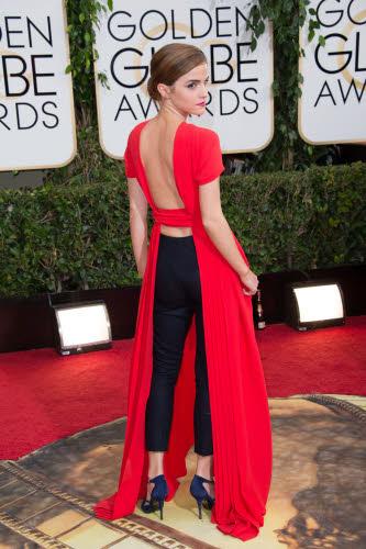 Emma Watson op de Golden Globes in Dior Couture