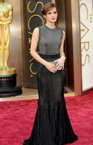 Emma Watson op de Oscars in Vera Wang