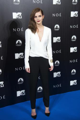 Emma Watson op de Europese première van 'Noah' in Madrid in J. Mendel