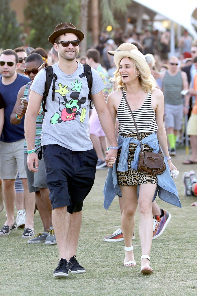 Diane Kruger and Joshua Jackson can't contain their happiness at Coachella