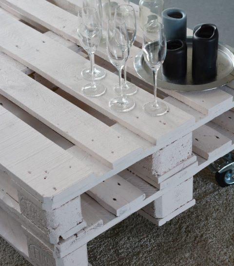 DIY: oud pallet wordt salontafel