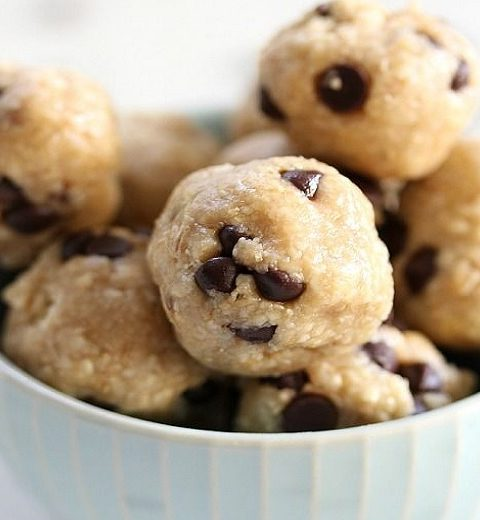 Food. Chocolate chip cookie dough