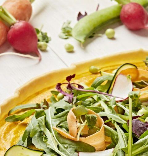 Recept: gluten en lactosevrije taart van krokante groenten en wortels