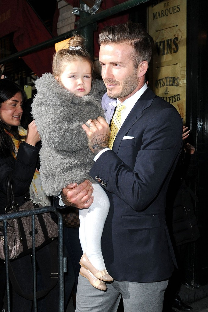 David Beckham keeps Harper close to his heart