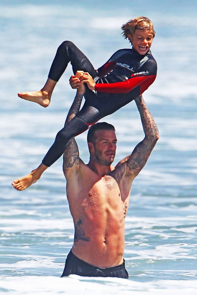 David Beckham gives the Boys Flying Lessons in Malibu