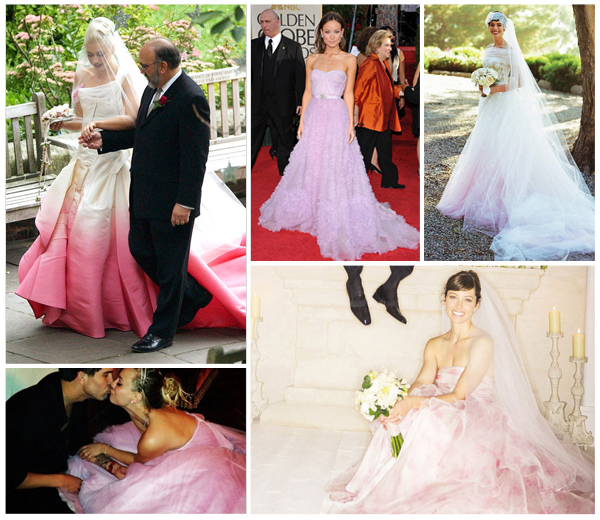 roze bruidsjurk