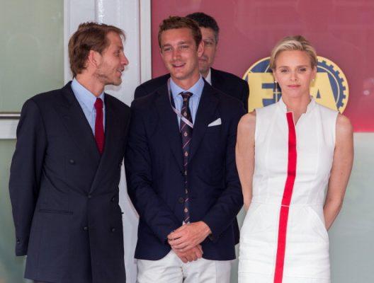 Andrea Casiraghi, Pierre Casiraghi & Princess Charlene van Monaco