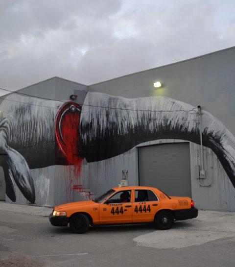 Street art op de festivalweide van Rock Werchter
