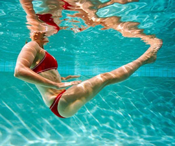 oefeningen, zwembad, workout, zomer