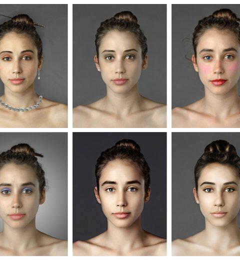 Jonge vrouw brengt schoonheidsideaal in kaart