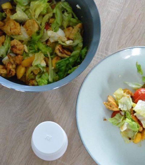 Recept: slaatje met kip en mango