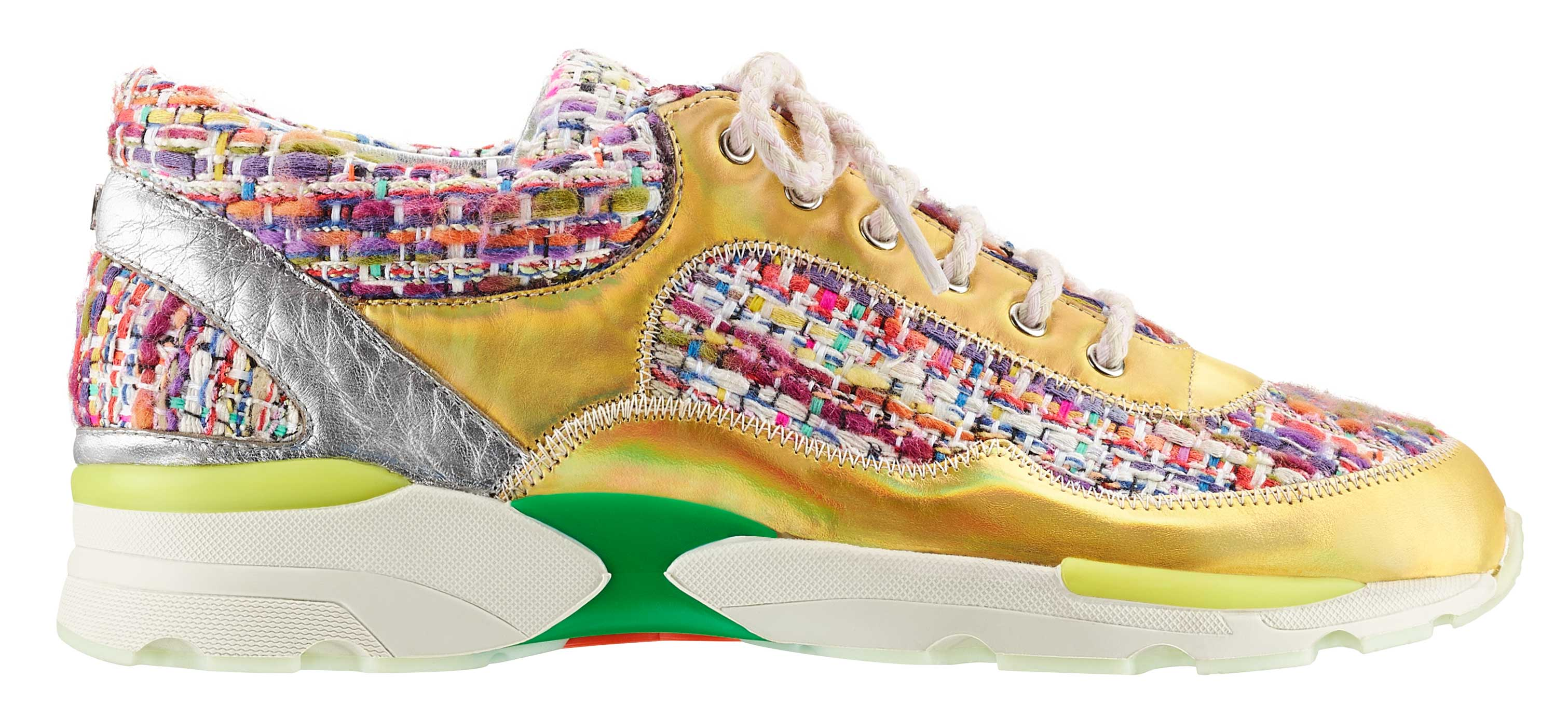 Multicoloured-tweed,-leather-and-rubber-sneaker_Basket-en-tweed-multicolore,-cuir-et-caoutchouc