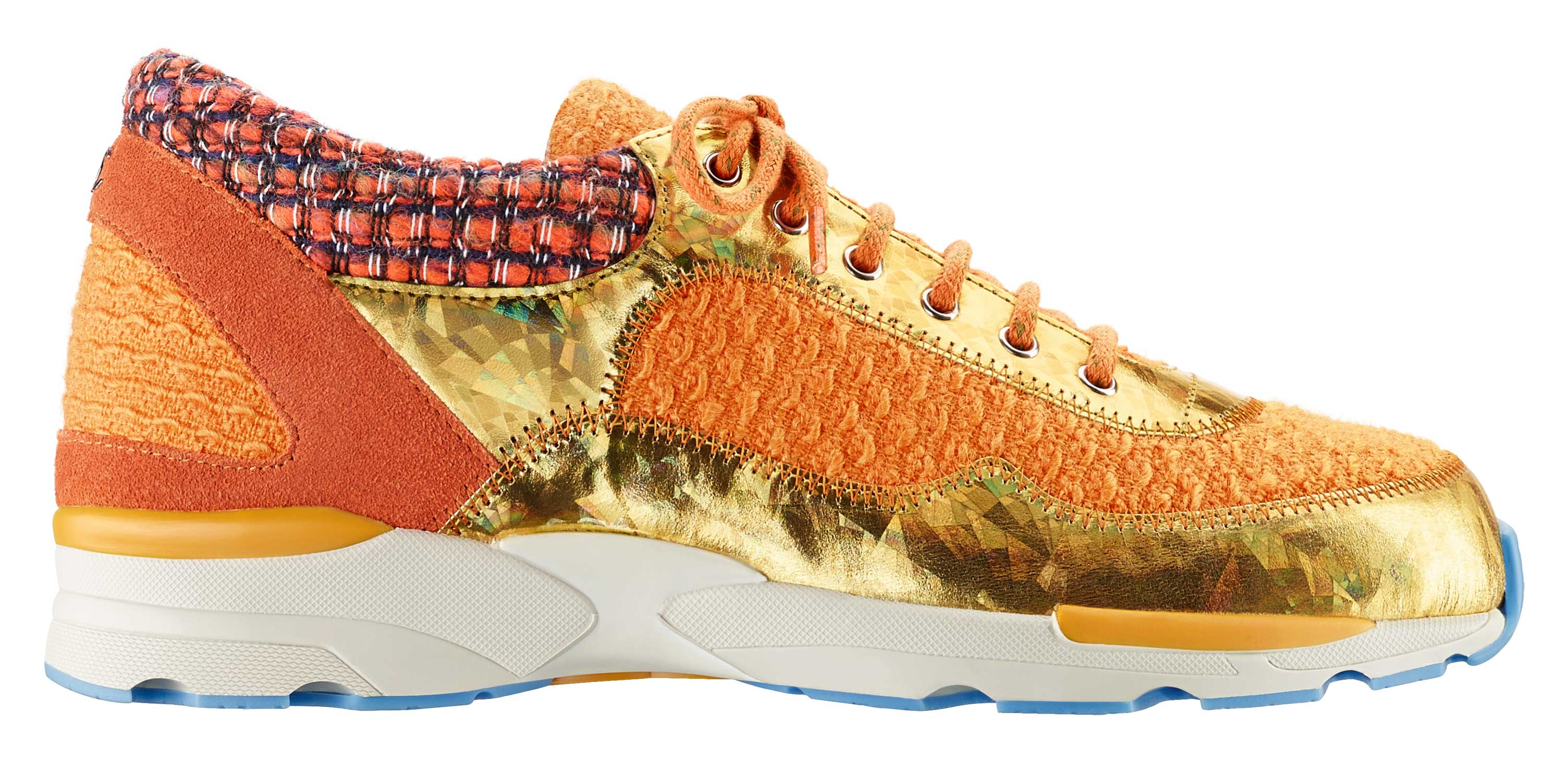 Orange-tweed,-suede-and-rubber-sneaker_Basket-orange-en-tweed,-daim-et-caoutchouc