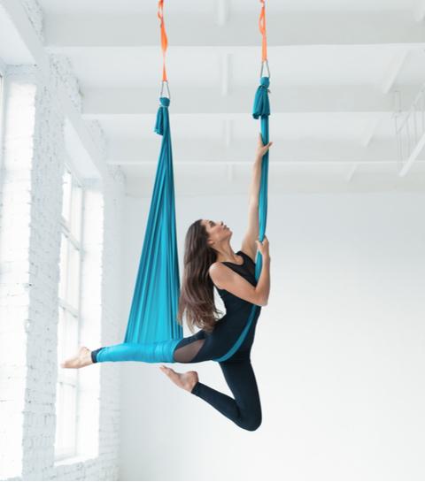 GETEST: een in- en ontspannende sessie Aerial Yoga