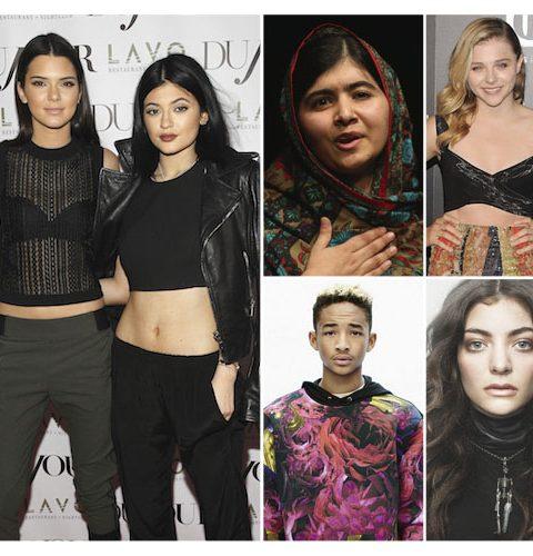 Top 10 meest invloedrijke tieners van 2014