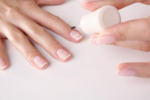 Woman, nail polish