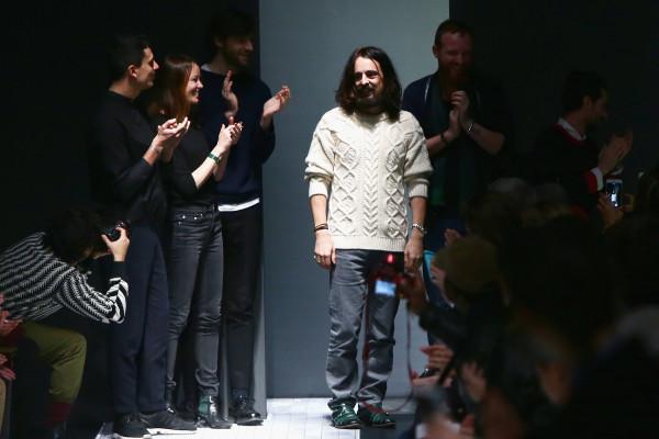 Alessandro Michele vorige week tijdens de mannenmodeweek in Milaan