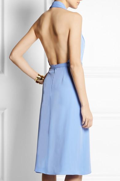 GUCCI - Backless silk-crepe halterneck dress - €1,255