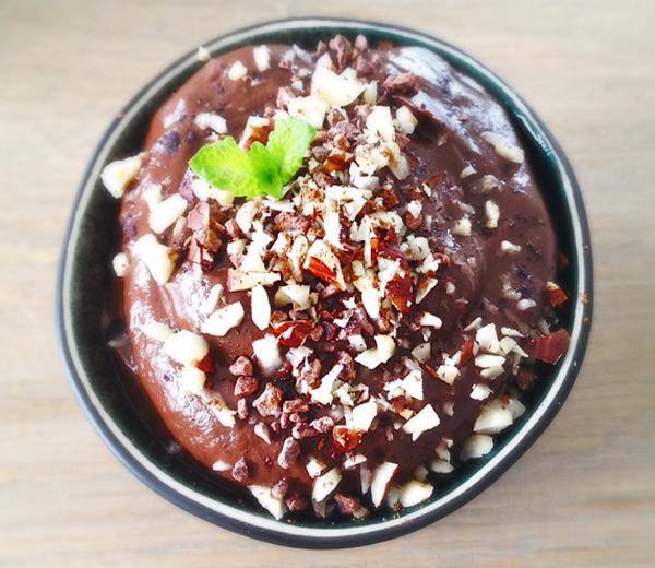 Chocolade Hazelnootmousse